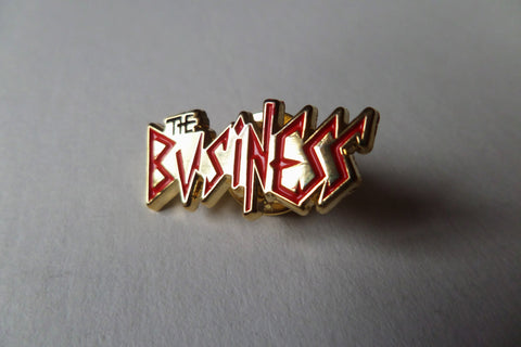 THE BUSINESS OI! PUNK METAL BADGE - Savage Amusement