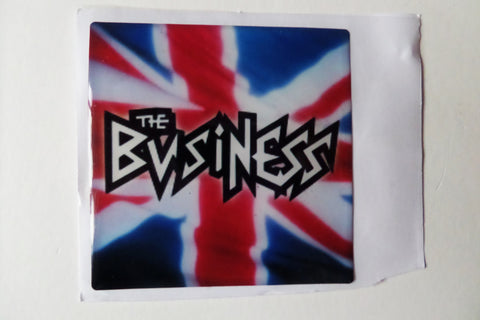 THE BUSINESS oi! punk PADDED VINYL STICKER