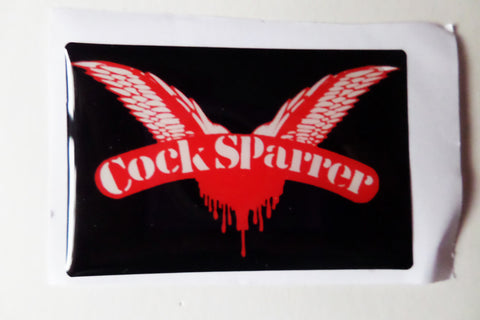 COCK SPARRER oi! punk PADDED VINYL STICKER - Savage Amusement