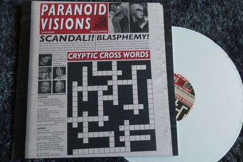 PARANOID VISIONS cryptic crosswords LP (with CD) - Savage Amusement