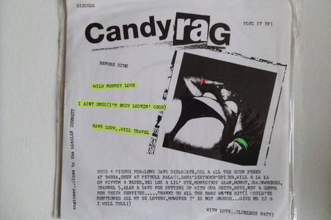 "CANDYRAG wild monkey love  7"" psychobilly / trash - Savage Amusement"