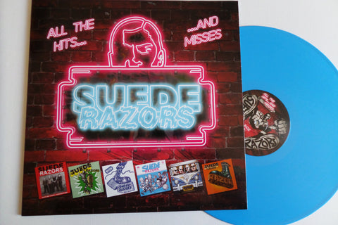 SUEDE RAZORS all the hits and misses LP - Savage Amusement