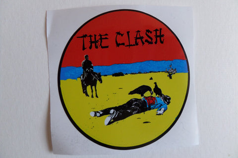 THE CLASH give em enough rope  large vinyl STICKER back in stock - Savage Amusement