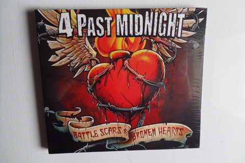 4 PAST MIDNIGHT battle scars & broken hearts CD digipak REDUCED! - Savage Amusement