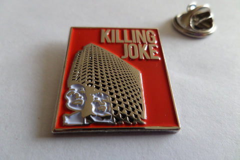 KILLING JOKE turn to red (red) PUNK METAL BADGE - Savage Amusement
