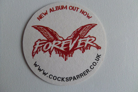 COCK SPARRER promotional BEERMAT - Savage Amusement