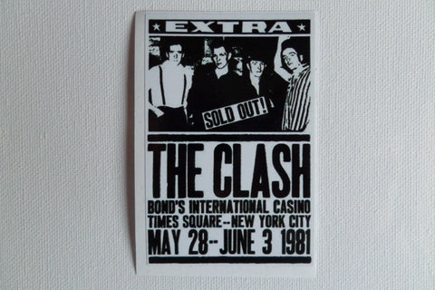 THE CLASH bonds extra gig small PUNK VINYL STICKER - Savage Amusement