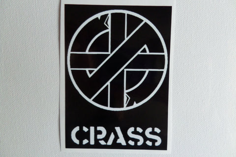 CRASS large PUNK VINYL STICKER - Savage Amusement