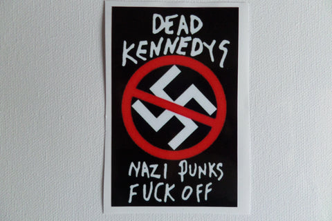 DEAD KENNEDYS n.p.f.o. PUNK VINYL STICKER - Savage Amusement
