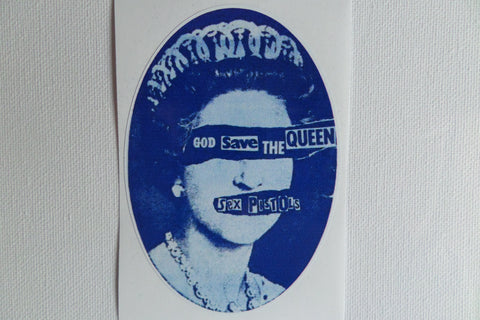 SEX PISTOLS gstq oval shape PUNK VINYL STICKER - Savage Amusement