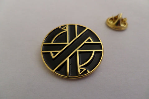 CRASS serpent embossed GOLD anarcho PUNK METAL BADGE very few!! - Savage Amusement