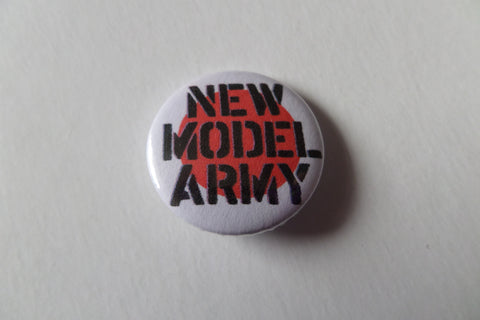 NEW MODEL ARMY logo post punk badge - Savage Amusement