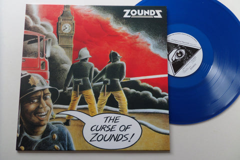 ZOUNDS curse of zounds LP ltd BLUE vinyl - Savage Amusement