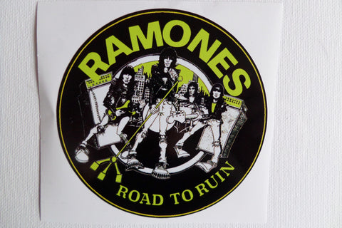 RAMONES road to ruin LARGE VINYL STICKER - Savage Amusement
