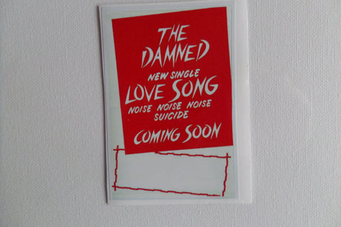 THE DAMNED love song promo PUNK VINYL STICKER - Savage Amusement