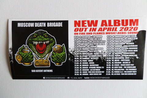 MOSCOW DEATH BRIGADE large promo PUNK VINYL STICKER - Savage Amusement