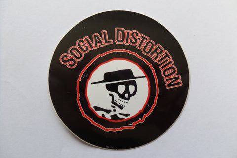 SOCIAL DISTORTION  PUNK VINYL STICKER - Savage Amusement
