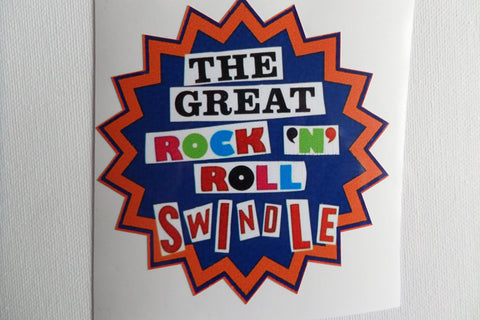 SEX PISTOLS great rock n roll swindle LARGE SHAPED VINYL STICKER