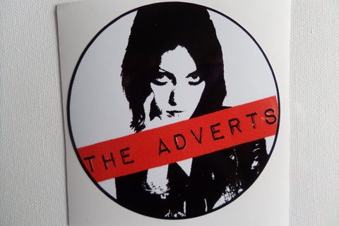 THE ADVERTS large PUNK VINYL STICKER
