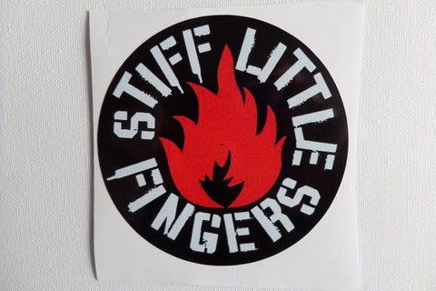 STIFF LITTLE FINGERS large PUNK VINYL STICKER