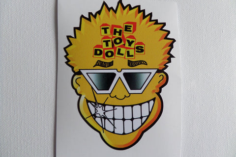 THE TOY DOLLS large SHAPED PUNK VINYL STICKER