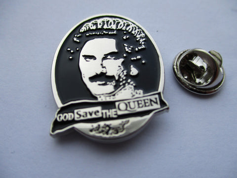SEX PISTOLS god save the queen freddie mercury PUNK METAL BADGE