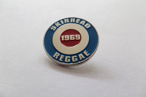SKINHEAD REGGAE ROUNDEL target MOD SKIN METAL BADGE - Savage Amusement