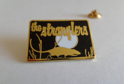 THE STRANGLERS rat/moon GOLD punk METAL BADGE
