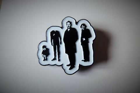 THE STRANGLERS black & white punk METAL BADGE - Savage Amusement