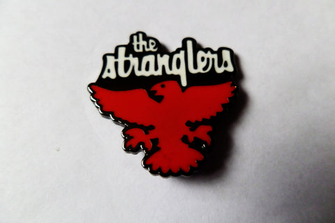 THE STRANGLERS raven black PUNK METAL BADGE