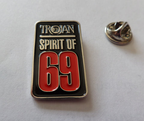 TROJAN SPIRIT OF 69 reggae ska metal badge (black)