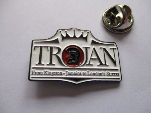 TROJAN crown logo shaped SKA METAL BADGE
