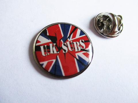 UK SUBS small PUNK METAL BADGE