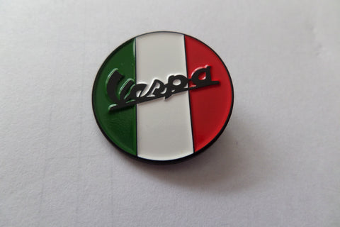 VESPA FLAG (round) MOD METAL BADGE - Savage Amusement