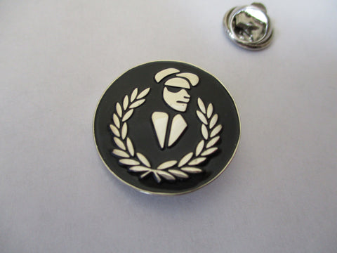 2 TONE WALT laurel wreath SKA METAL BADGE