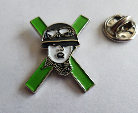 XRAYSPEX POLY STYRENE (green) PUNK METAL BADGE