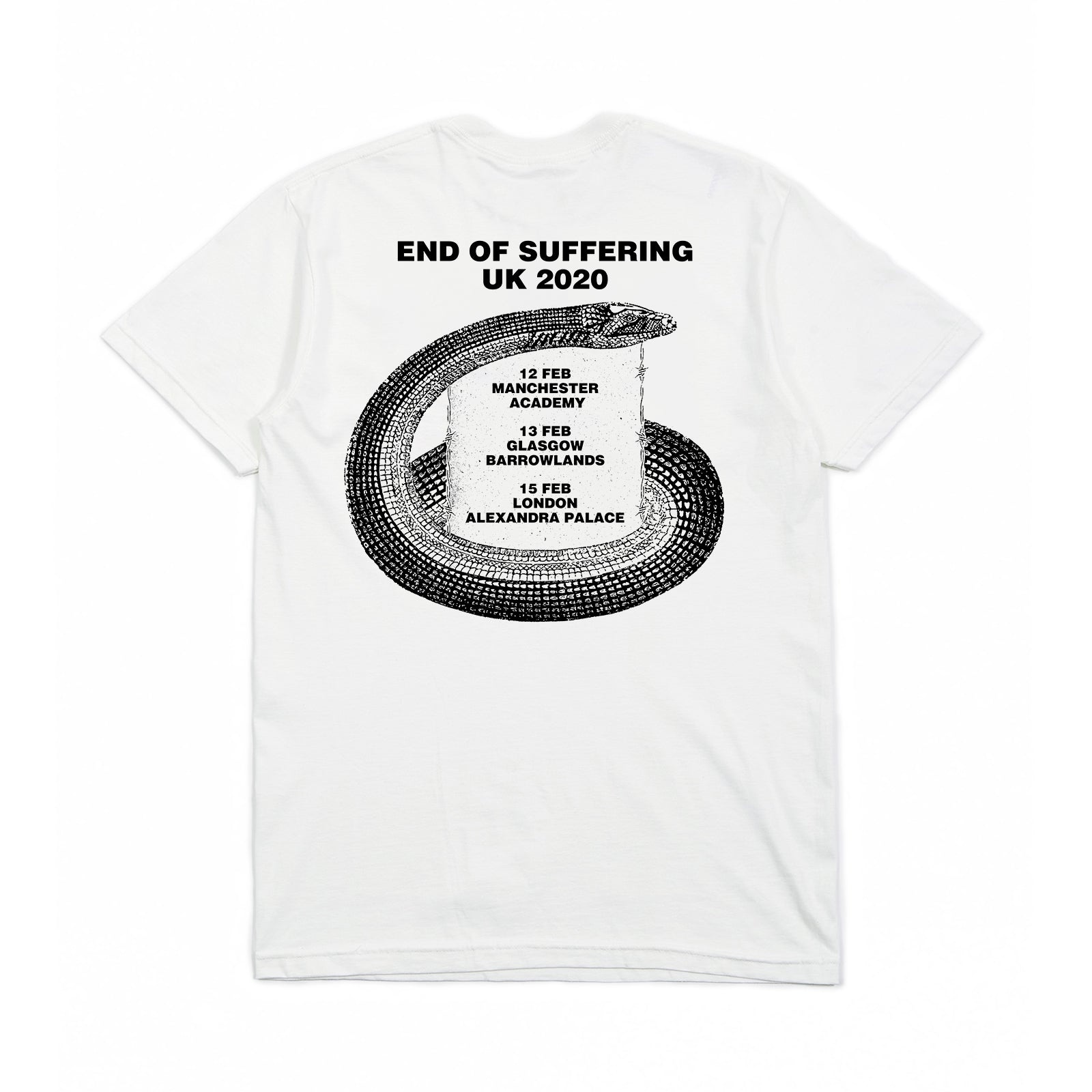 EOS Tour 2020 White Tee (Black Print)