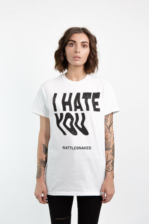 I Hate You Copy Tee (White)
