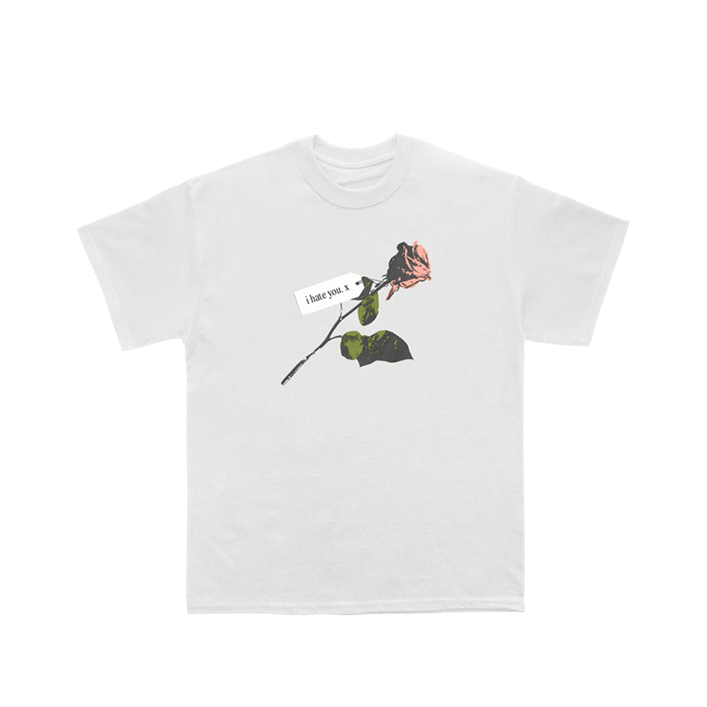 I Hate You Rose Tee (White) - NEW!