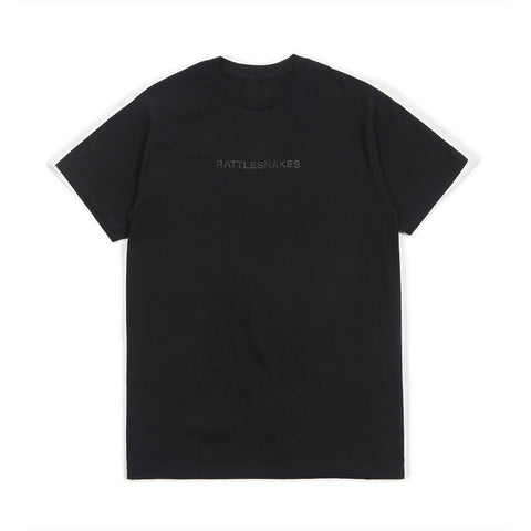 Rattlesnakes Embroidered Tee (Black)