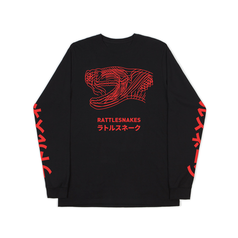 Snakehead - Black Longsleeve (Red)
