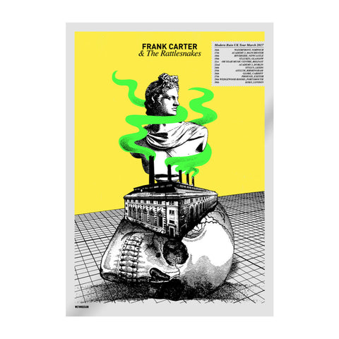 March 2017 UK Tour Yellow Screenprint