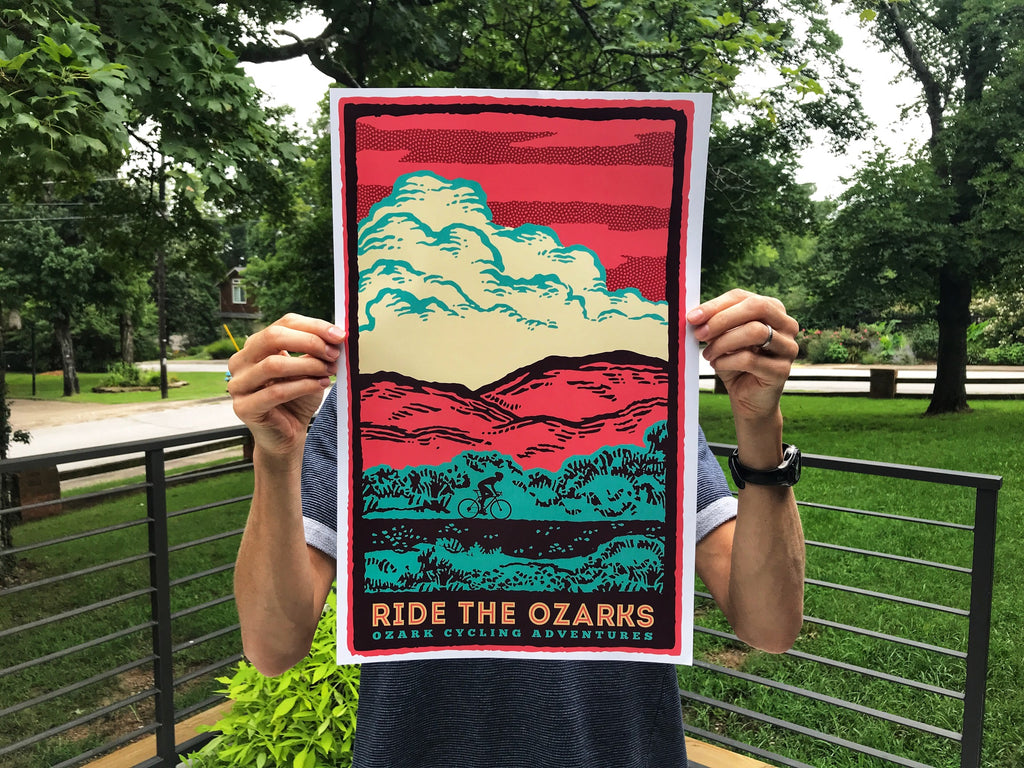RIDE THE OZARKS Original Print