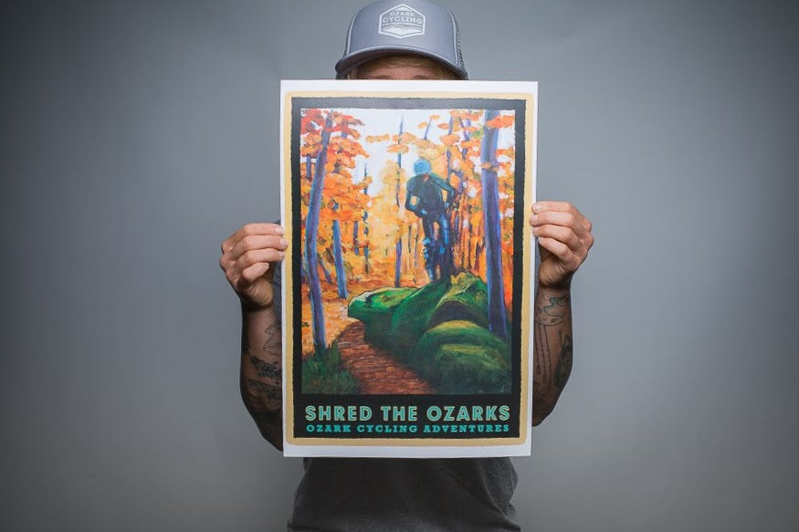 SHRED THE OZARKS Print