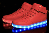 RED Hi-Tops LED Sneakers by RAVE KIXX