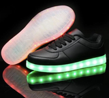 BLACK LEDLight Up Shoes (Low-Tops) by Rave Kixx
