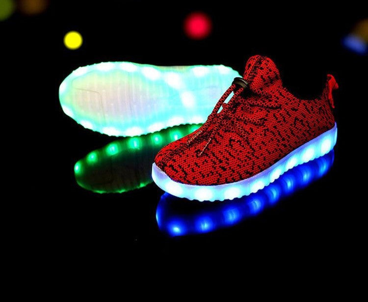 Kids LED Light Up shoes (Red) by Rave KiXx! Hottest Style of 2016-17.
