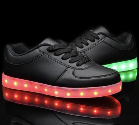 BLACK LED Low-Tops by Rave Kixx