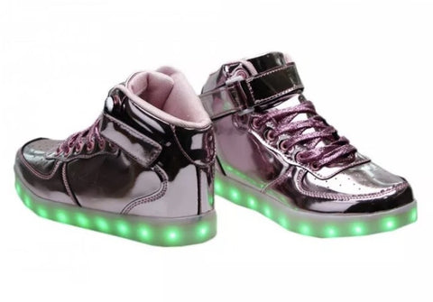 PINK CHROME LED Hi-Tops!!