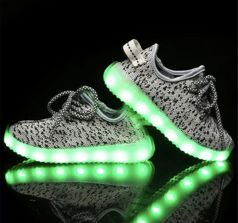 cfe69e572160 Sale Kids LED Light Up Shoes by Rave Kixx (Grey) (Hottest style of 2018